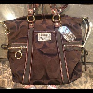 Dark brown Coach bag